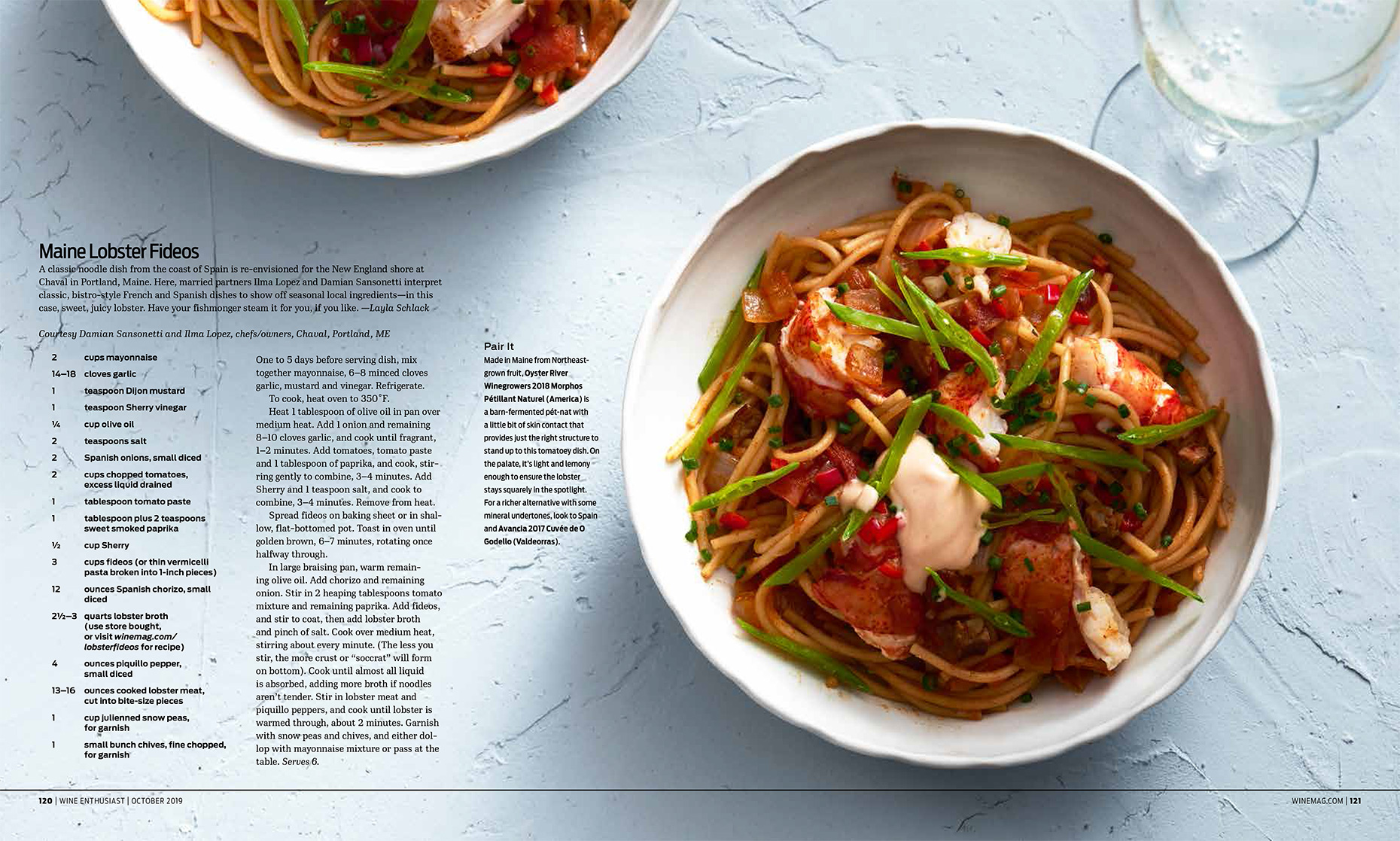 Wine Enthusiast Sea Fare Article about Maine Lobster, Food Styling by Takako Kuniyuki New York