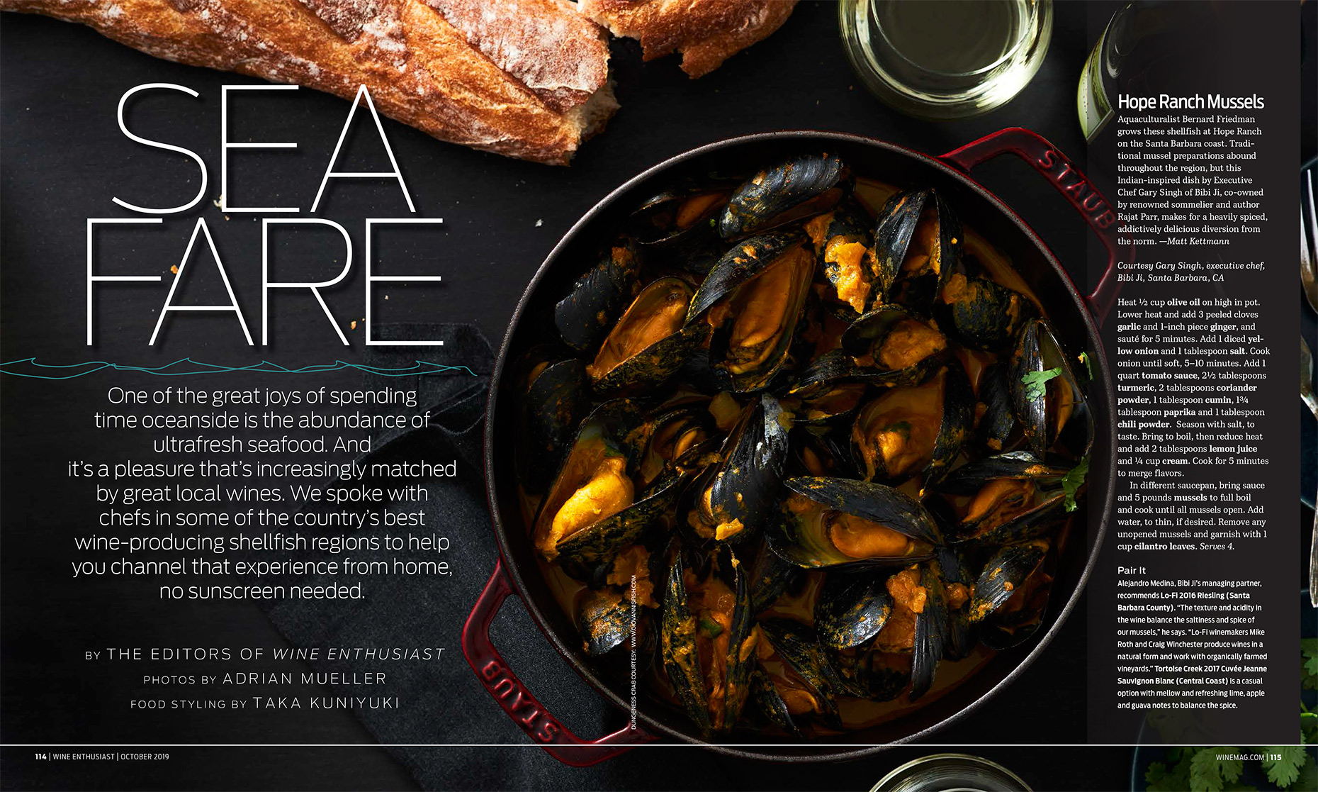 Wine Enthusiast Sea Fare Article, Food Styling by Takako Kuniyuki New York